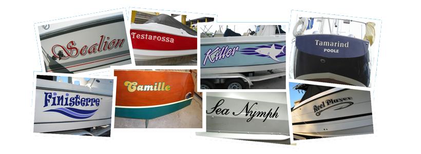 Carrera Graphics Oxford Signwriter Boat Names